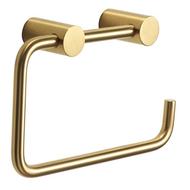 Toilet paper holder, brushed brass