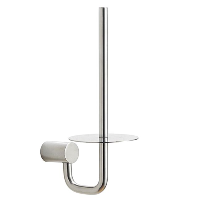 Spare paper holder, polished stainless steel