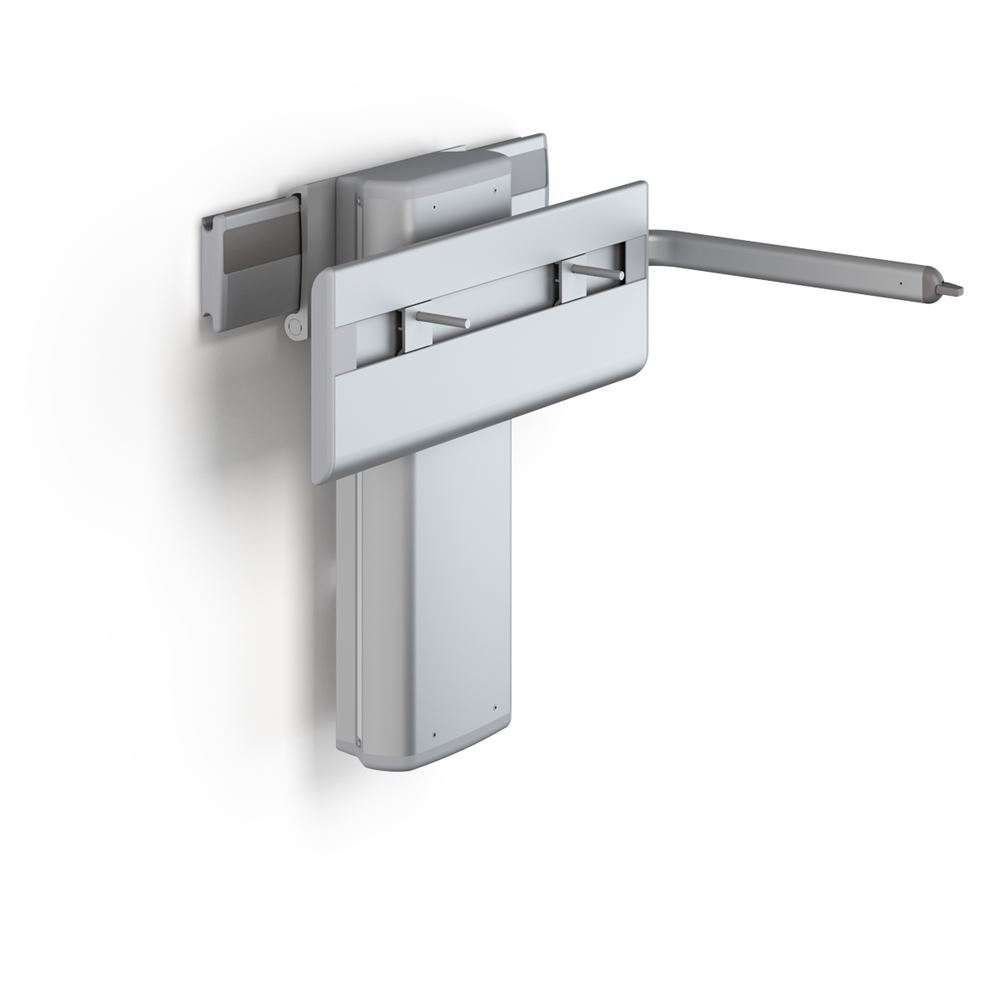 PLUS wash basin bracket with lever control, electrically height adjustable and sideways adjustable
