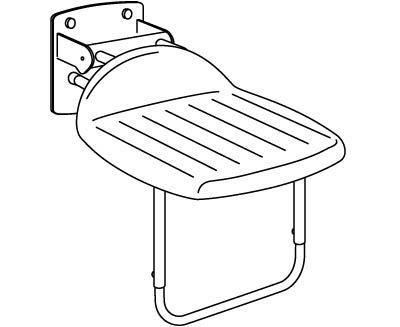 VALUE siège rabattable pour la douche avec piètement support, montage fixe