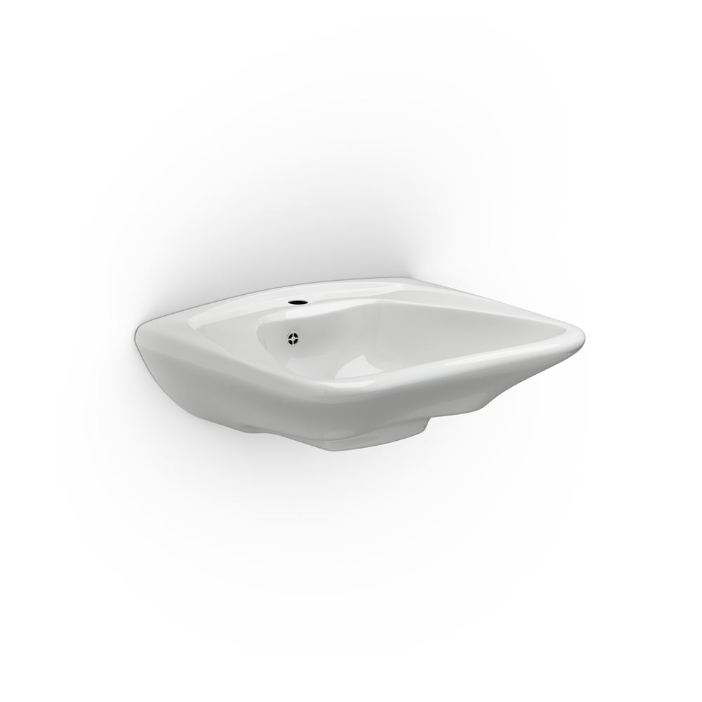 MATRIX CURVE ergonomic wash basin with overflow