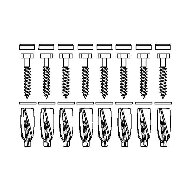 Bevestigingsmateriaal V8663 (8 stuk),voor cellenbeton
