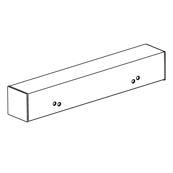 VALUE distance piece for wash basin