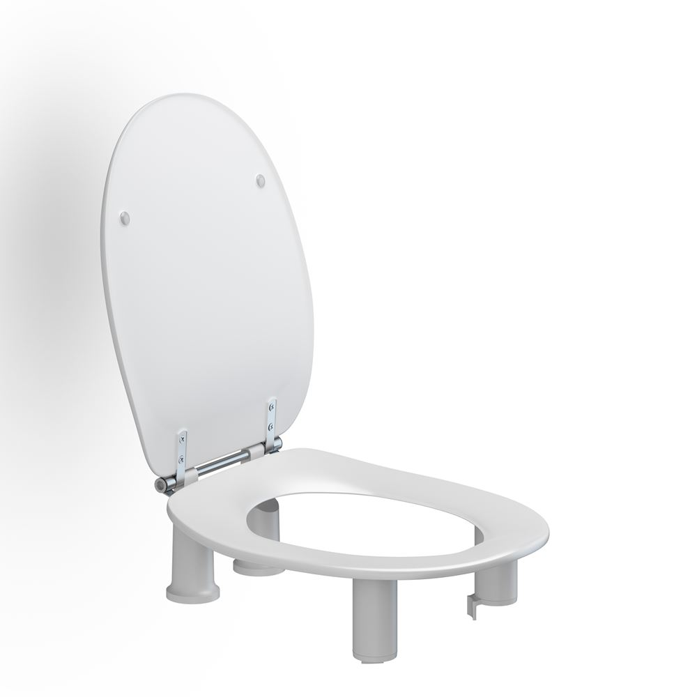Toilet seat Dania with cover, 100 mm raised