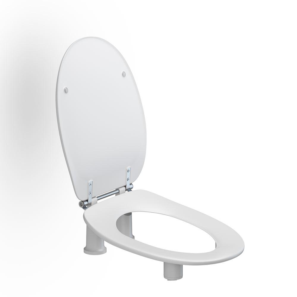 Dania toiletzitting met deksel 100/50 mm verhoogd