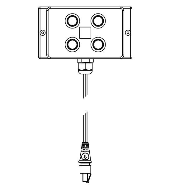 Afstandbediening aan kabel met kabel