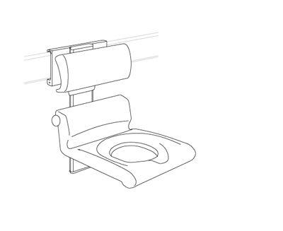 CareSystem duschstol 410 med hål, manuelt höjd- och sido reglerbar