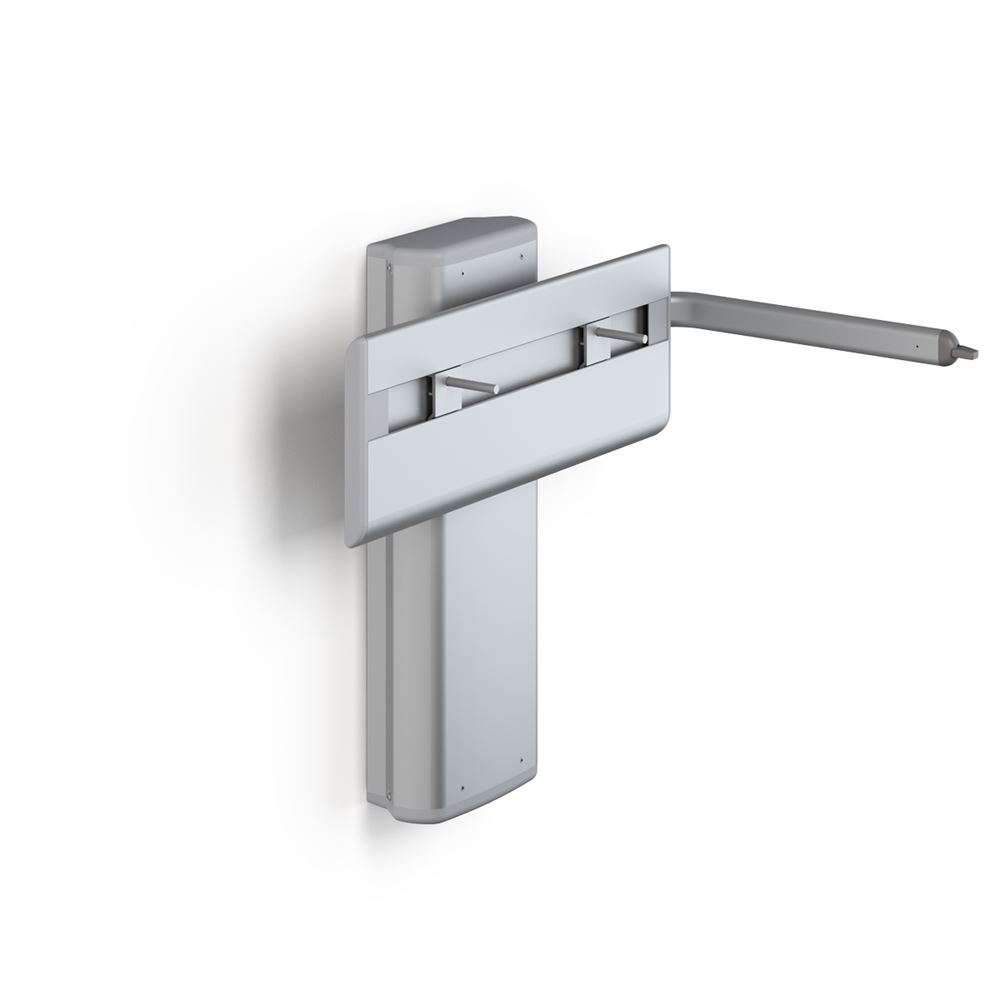 PLUS wash basin bracket with lever control, electrically height adjustable