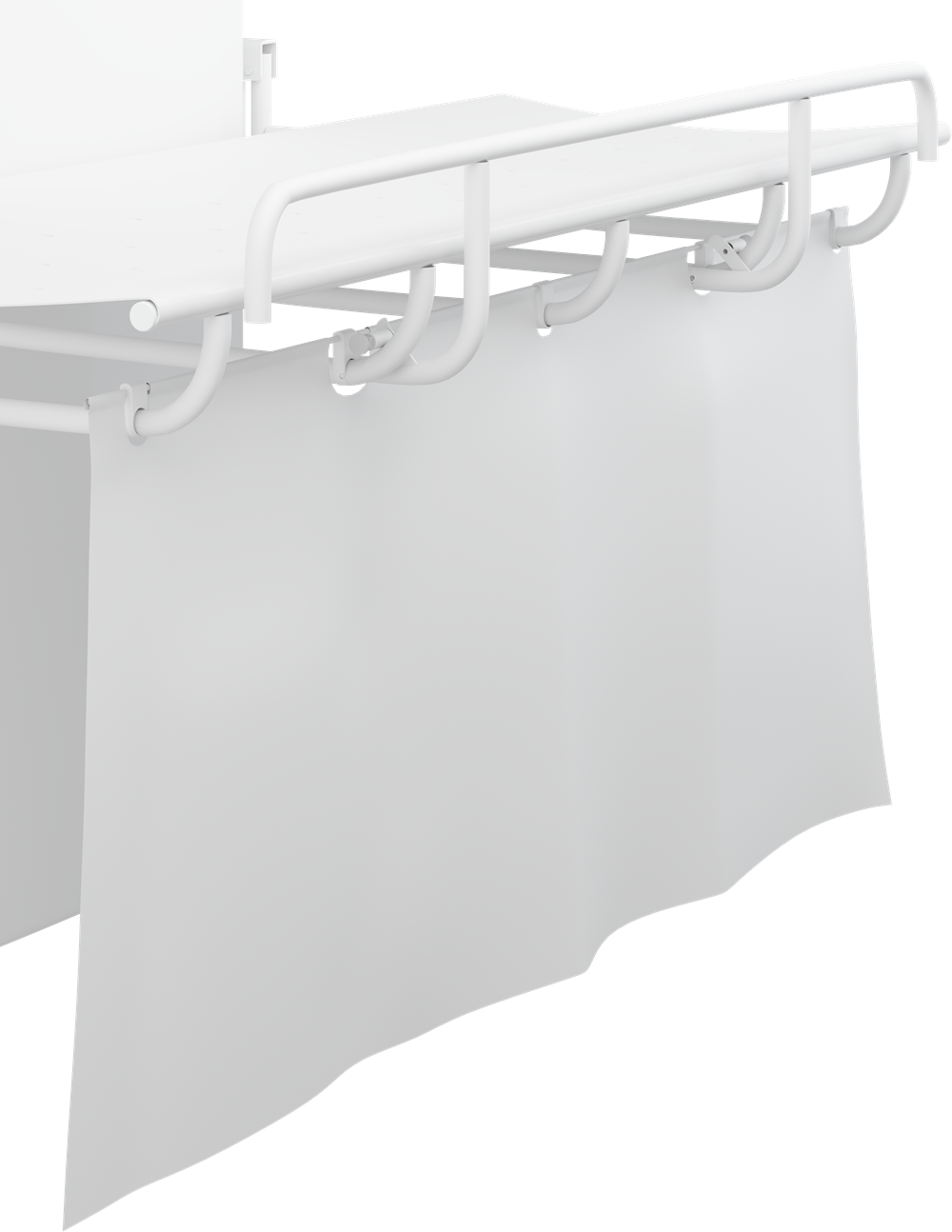 Curtain for showering and changing table 1000