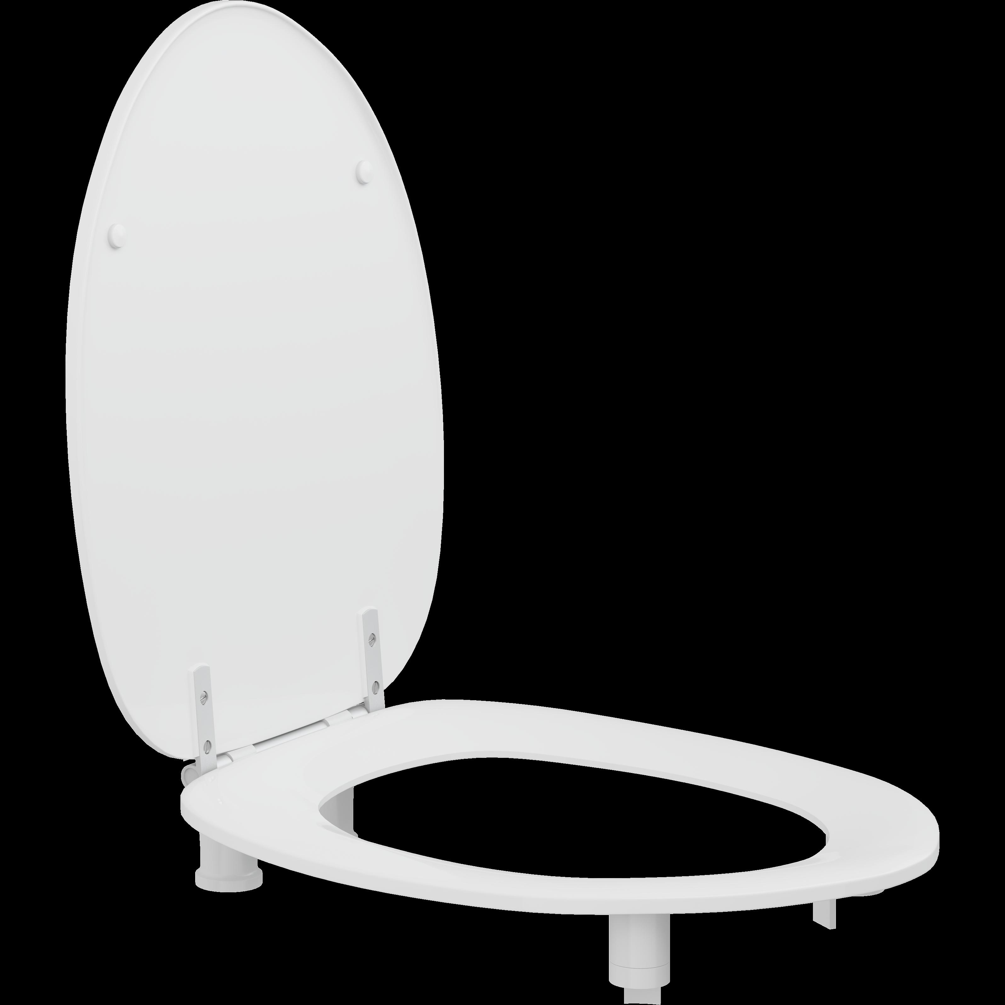 Toiletzitting Dania met deksel, 50 mm verhoogd