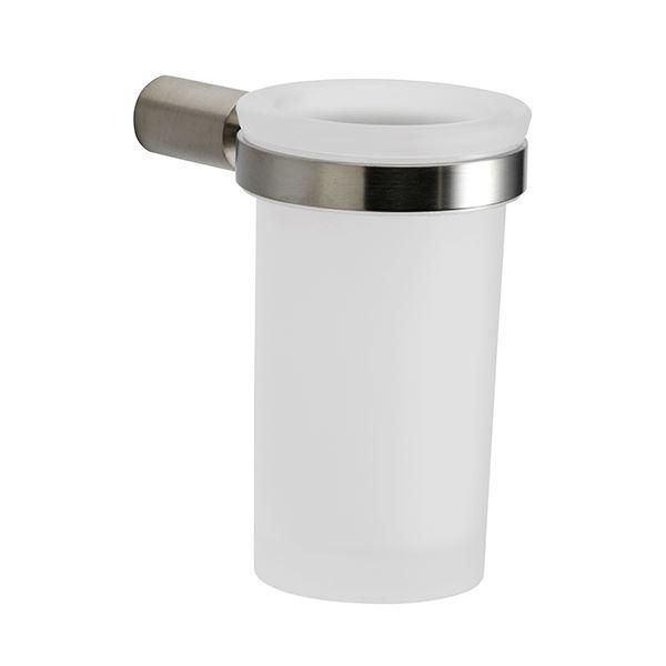 Glasholder for wall, stainless steel