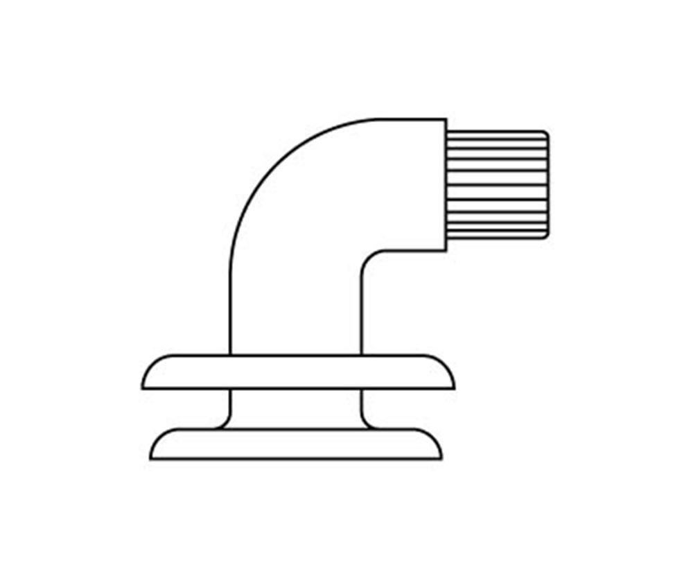 VALUE wall mounting with 90° angle and plug
