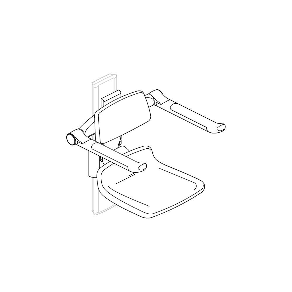 PLUS replacement shower seat 310, manually height adjustable