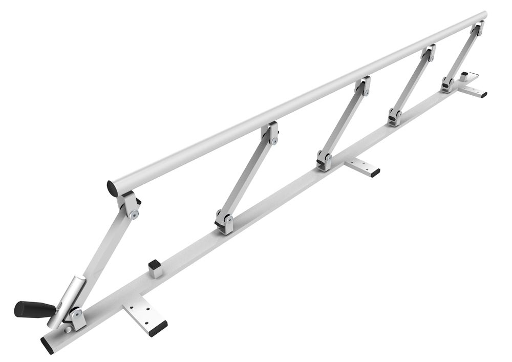 Safety rail 1400 mm, foldable