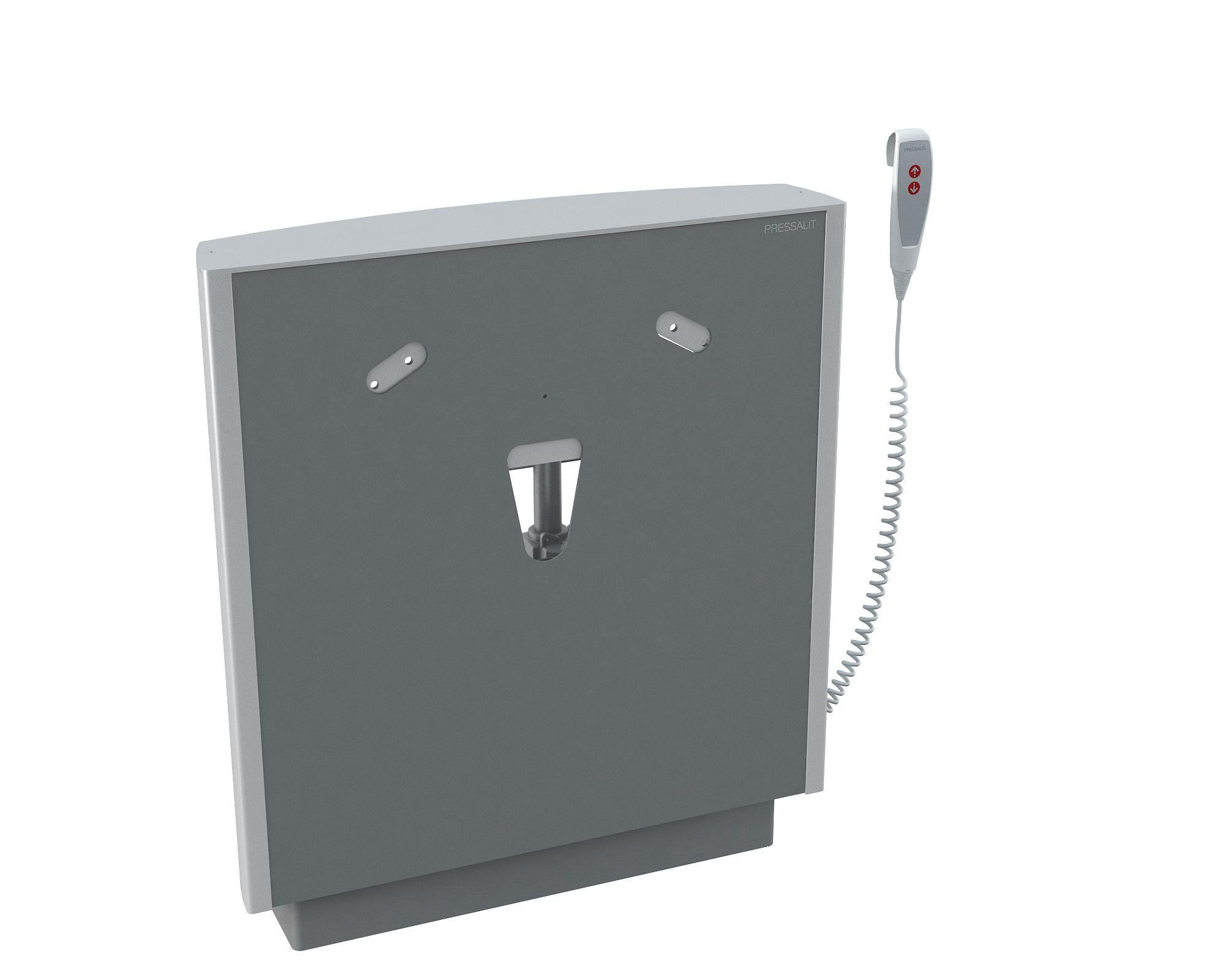 SELECT Waschtisch-Lifter, bodenstehend mit Wandbefestigung, elektrisch höhenverstellbar mit kabelgebundener Fernbedienung, inkl. Sicherheitsstopfunktion