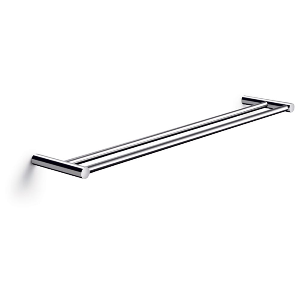 Towel holder, double, 60 x 12 cm, polished stainless steel