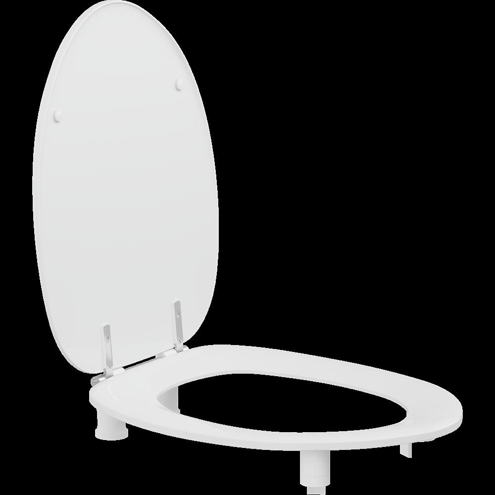 Dania toiletzitting met deksel, 50 mm verhoogd