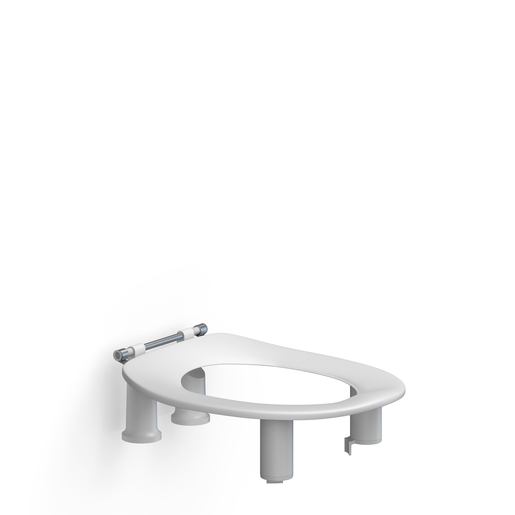 Toilet seat Dania without cover, 100 mm raised