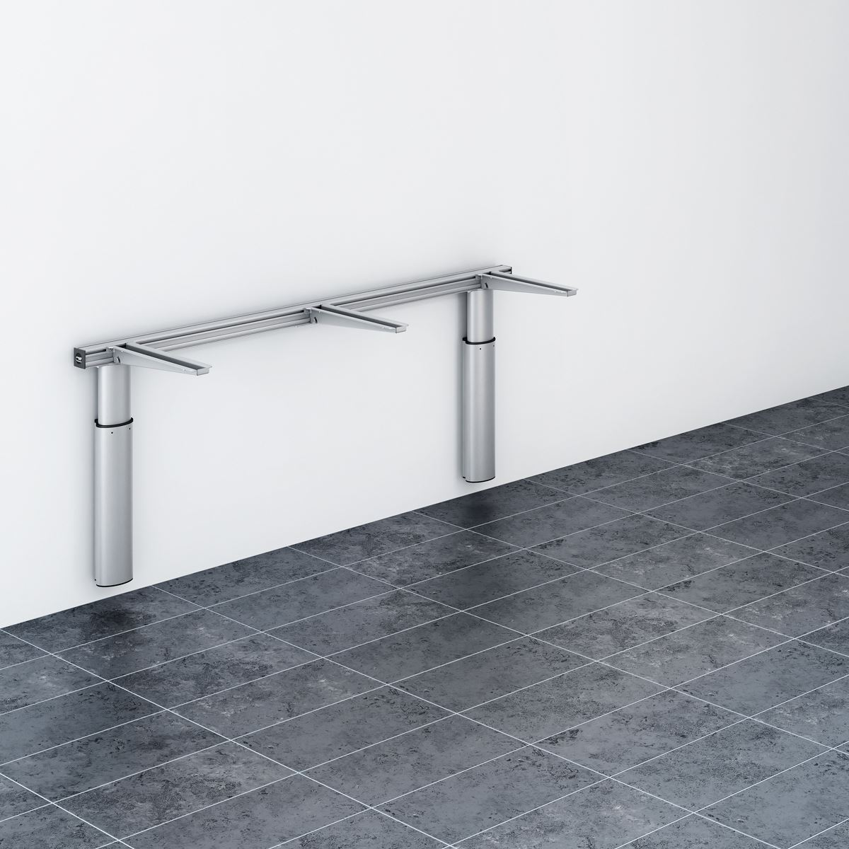 Lift for worktop, electrically height adjustable