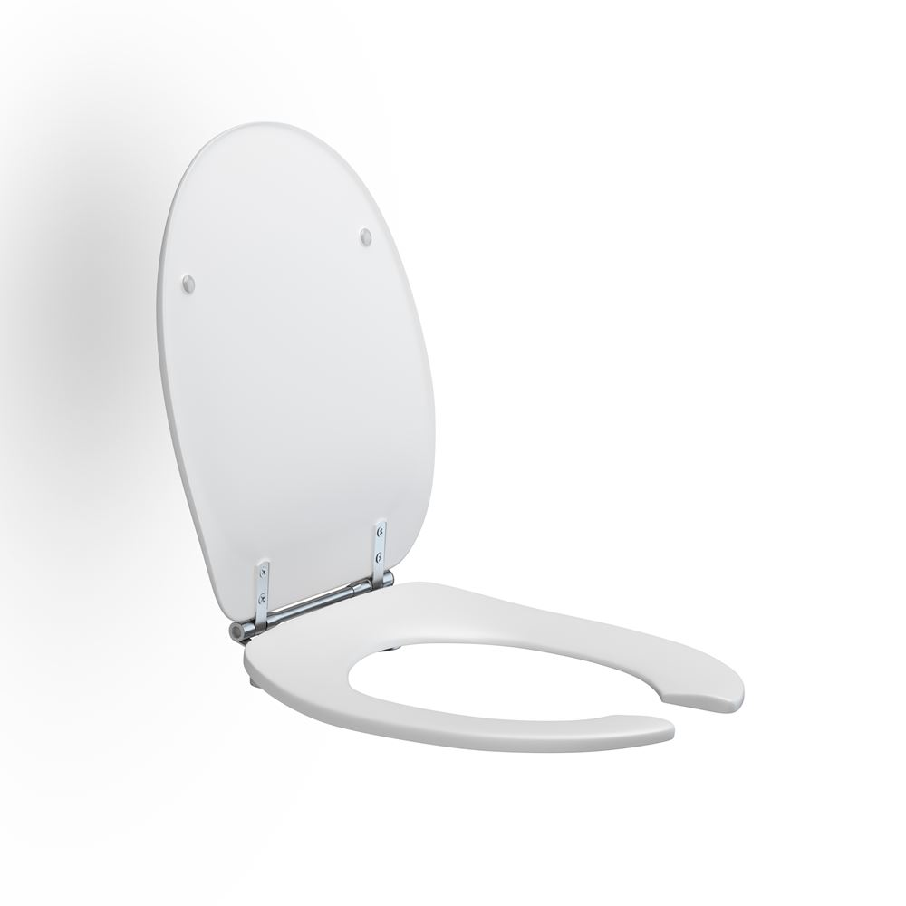 Toilet seat Dania with open front, with cover
