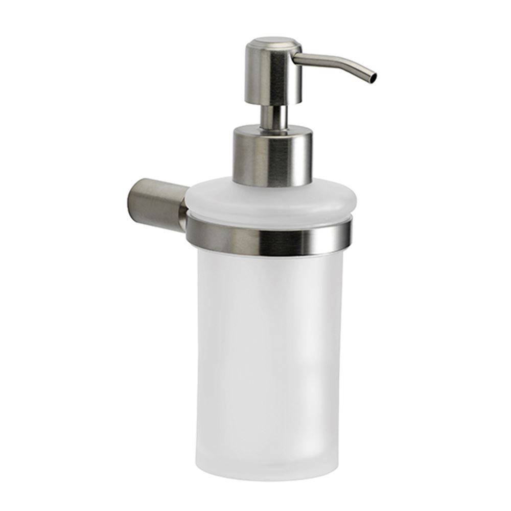 Soapdispenser, polished stainless steel