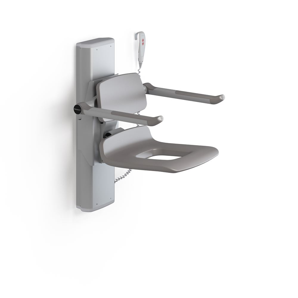 PLUS shower seat 450 with aperture, electrically height adjustable