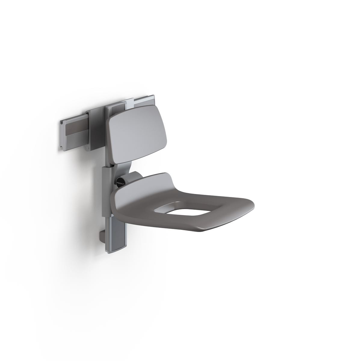 PLUS shower seat 450 with aperture, manually height and sideways adjustable