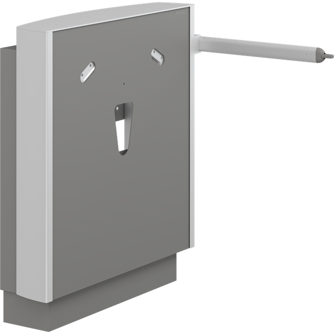 SELECT wash basin bracket, wall-mounted with floor support, electrically height adjustable with lever control