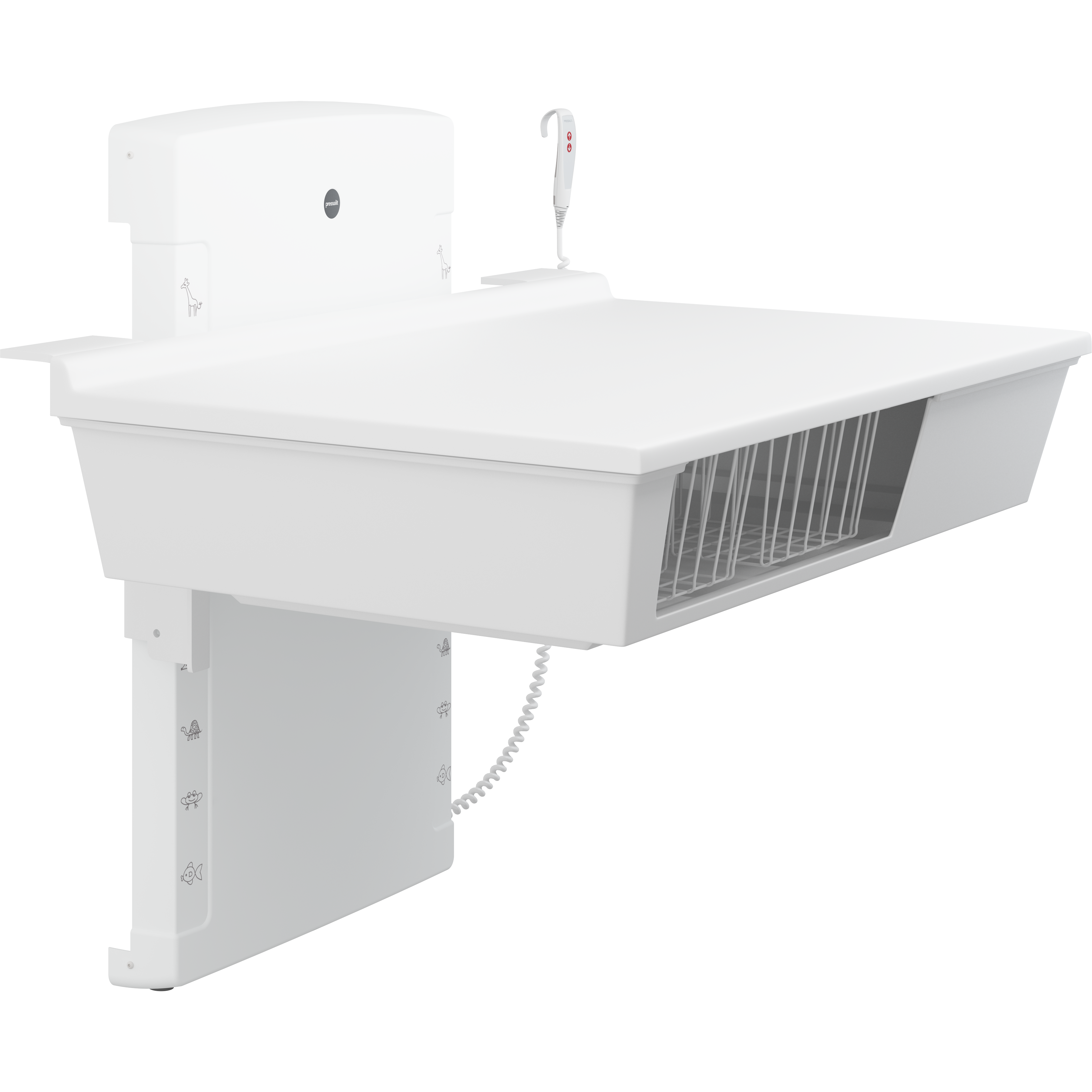 Changing table, 800 x 1400 mm, electrically height adjustable