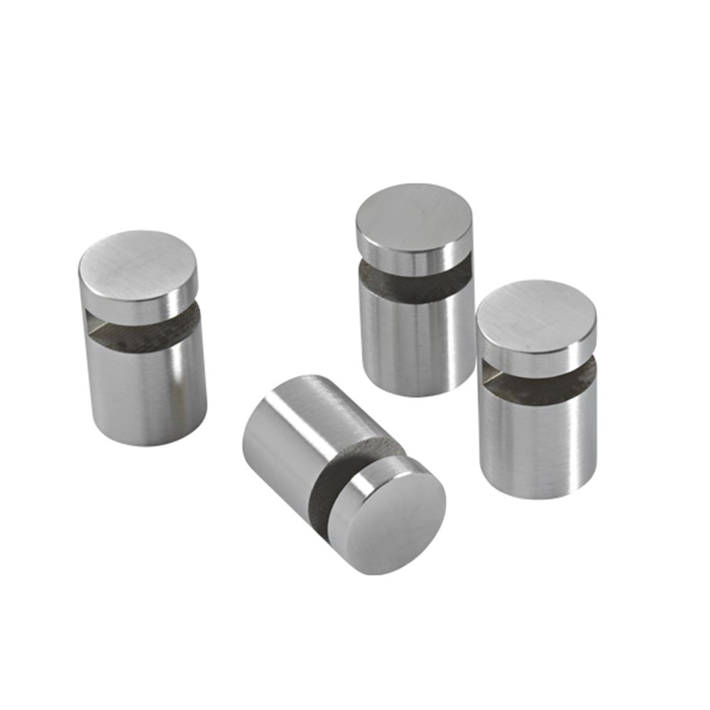 Mirror holder, 4 pcs., stainless steel