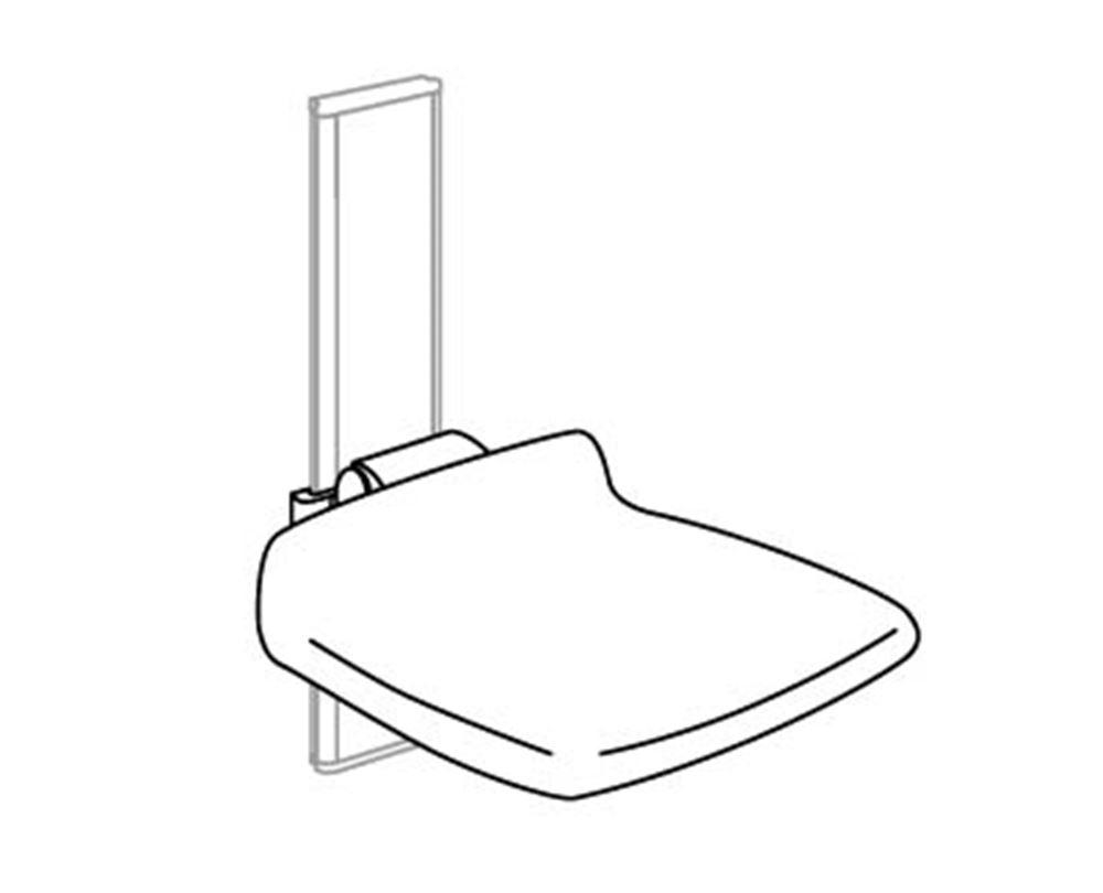 CareSystem siège de douche 310, réglable en hauteur manuellement