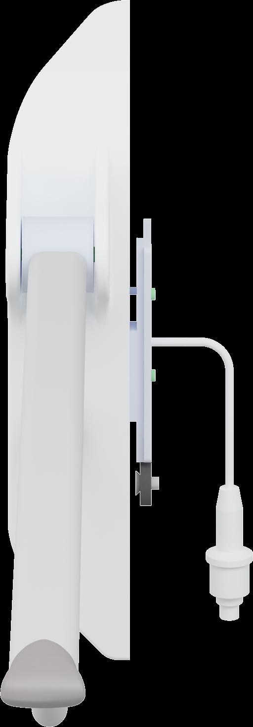 VALUE toalettarmstöd, 850 mm, uppfällbart.