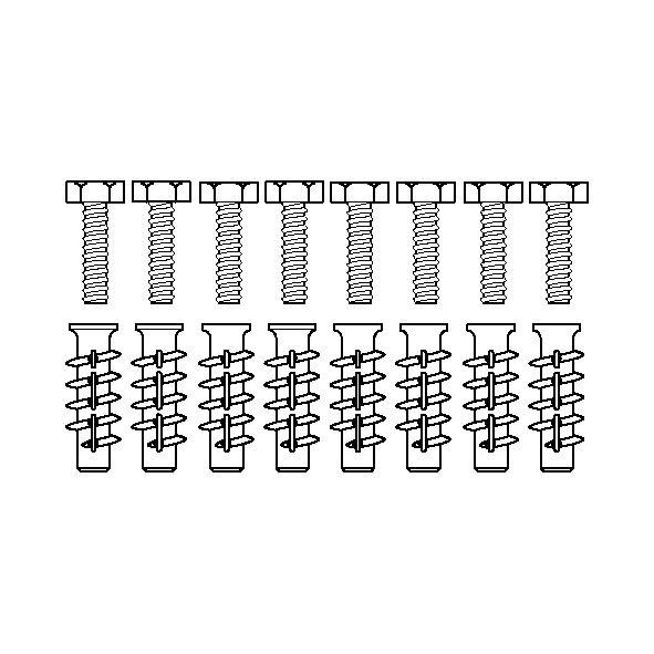 Kit vis de montage V8660 (8 pièces), pour béton cellulaire