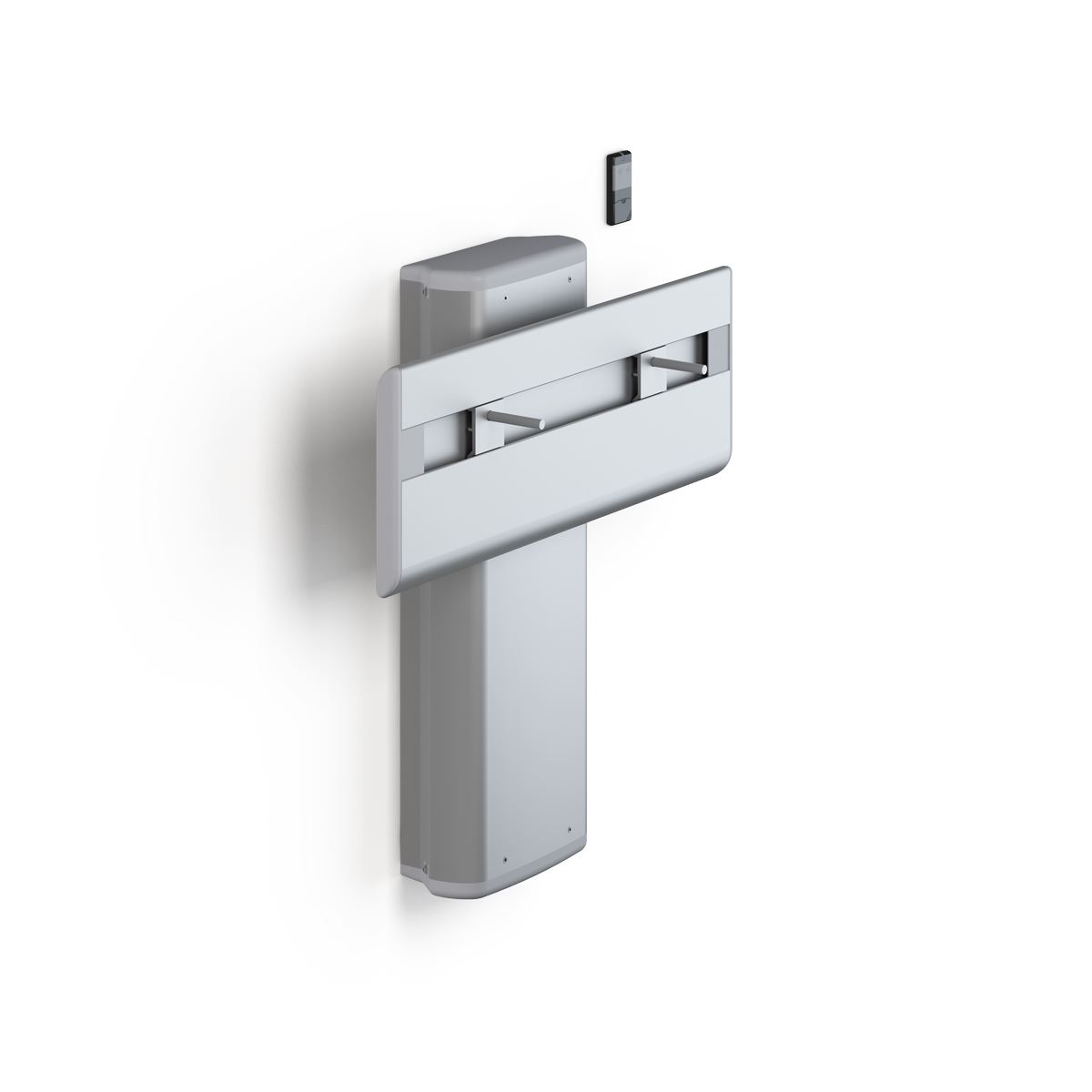 PLUS wash basin bracket with cordless remote control, electrically height adjustable