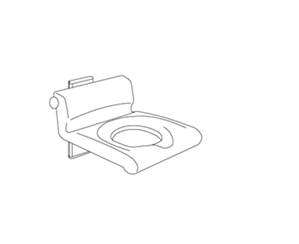 CareSystem shower seat 410, manually height adjustable