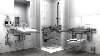 Einrichtung einer behindertengerechten Toilette | Pressalit ...