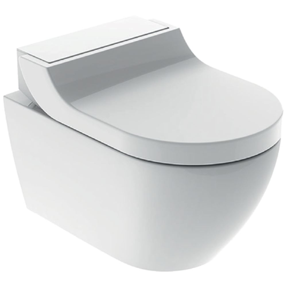 Geberit AquaClean Tuma Comfort væghængt douchetoilet.