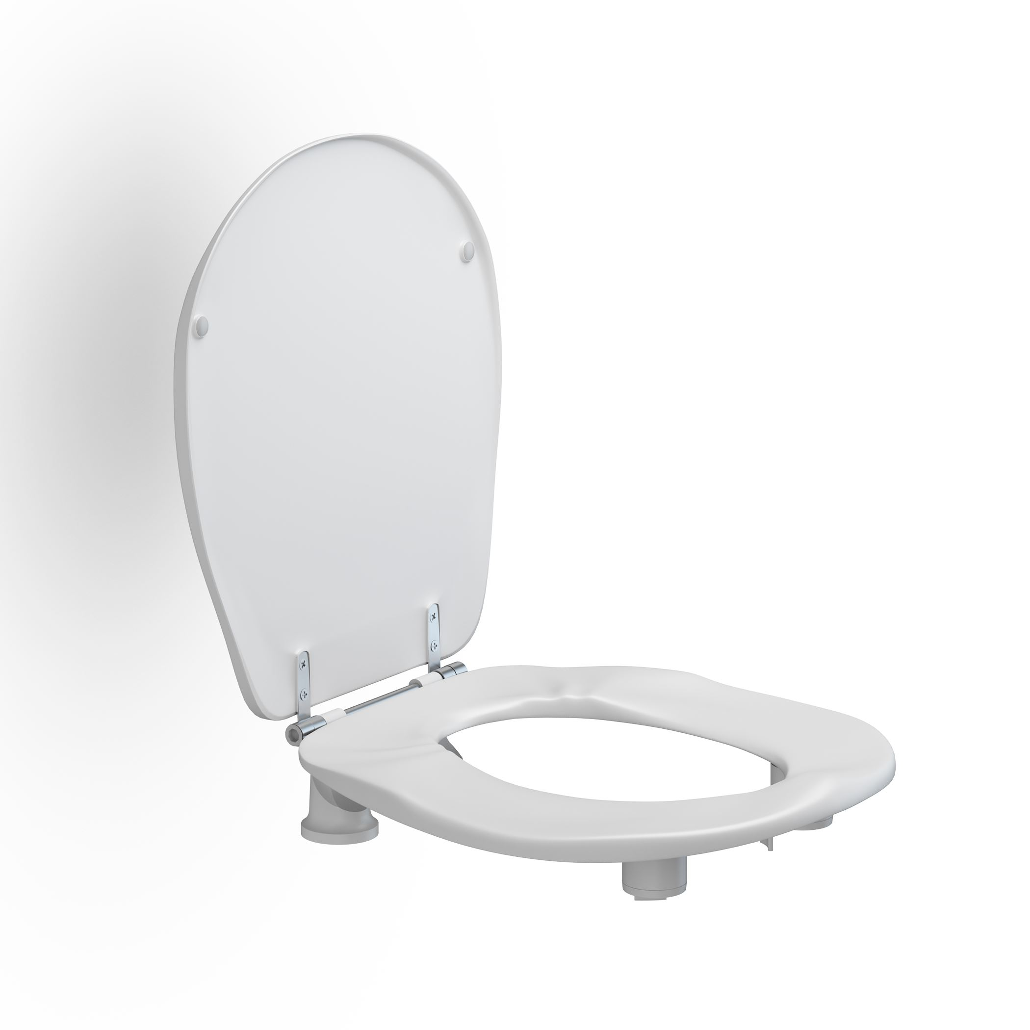 Toilet seat Ergosit with cover, 50 mm raised