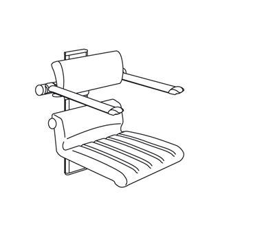 CareSystem chaise de douche 410, réglable en hauteur manuellement