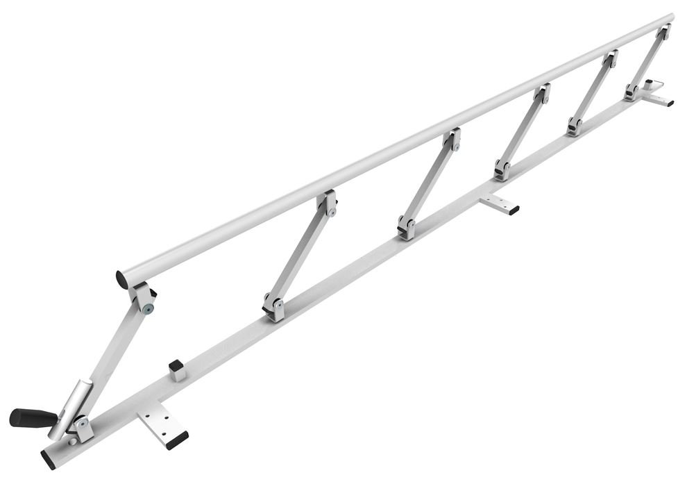 Safety rail 1800 mm, foldable.
