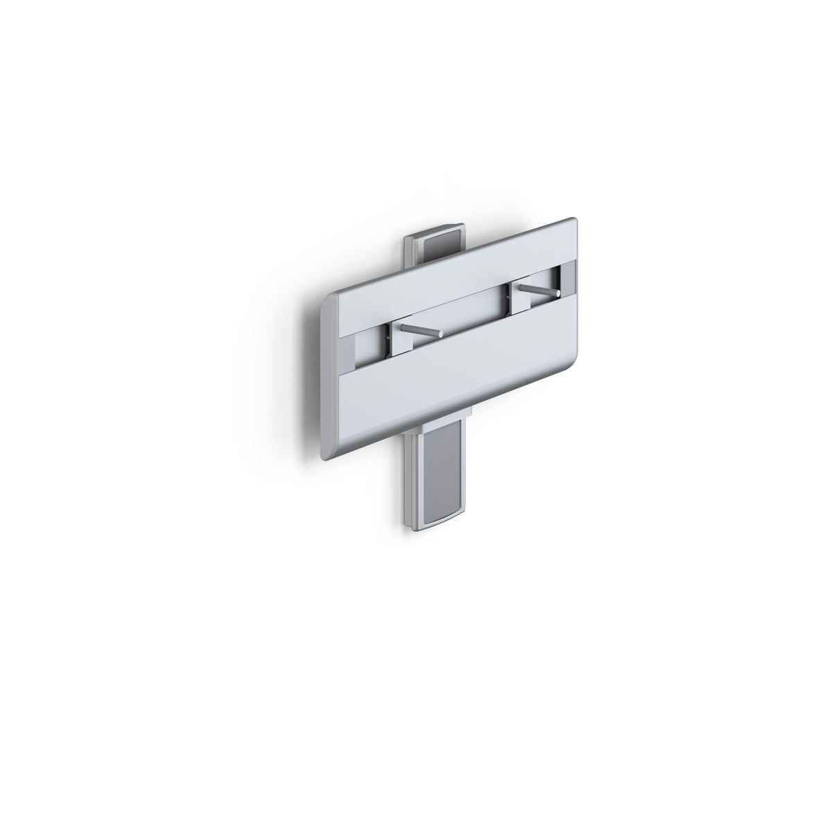 PLUS wash basin bracket with lever control, manually height adjustable