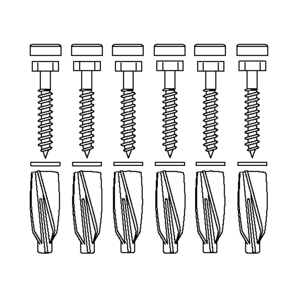 Befestigungsmaterial V8658 (6 Stck.), für Porenbeton