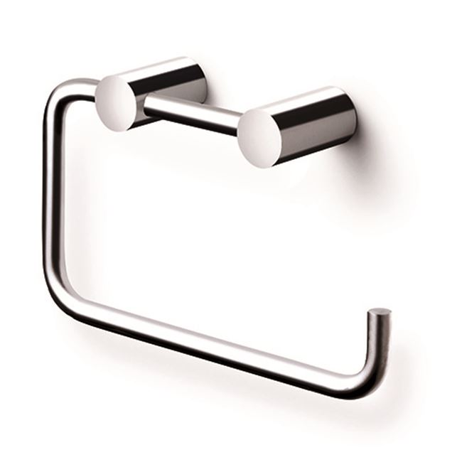 Toilet paper holder, polished stainless steel