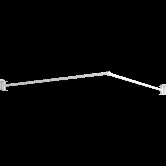Schwenkbare Duschvorhangsstange, 1530 x 1530 mm