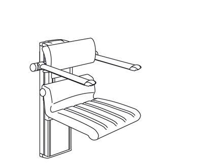 CareSystem duschstol 410, elektrisk höjdreglerbar