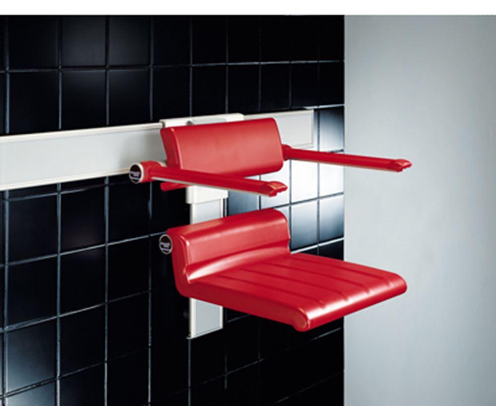 CareSystem duschstol 410, manuelt höjd- och sido reglerbar