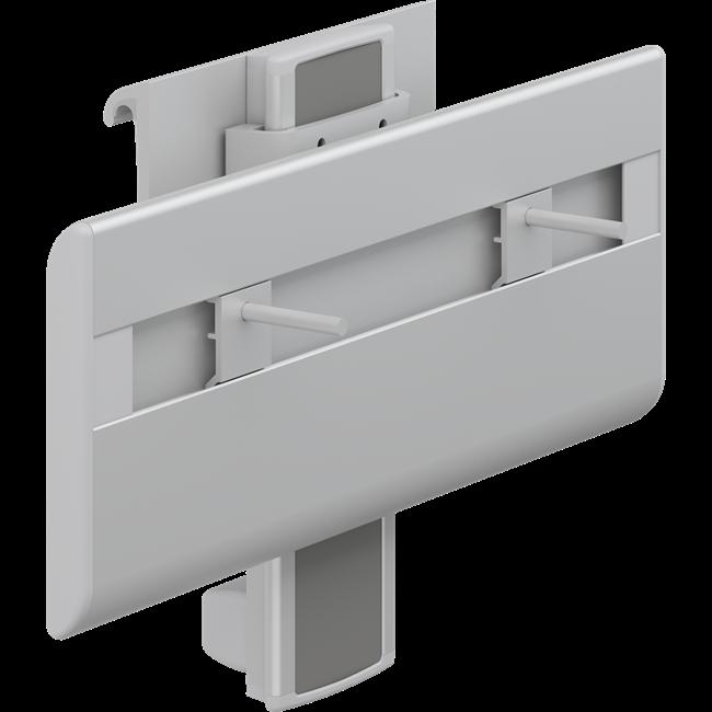 PLUS Waschtisch-Lifter mit Betätigungshebel, manuell höhenverstellbar und seitlich verschiebbar
