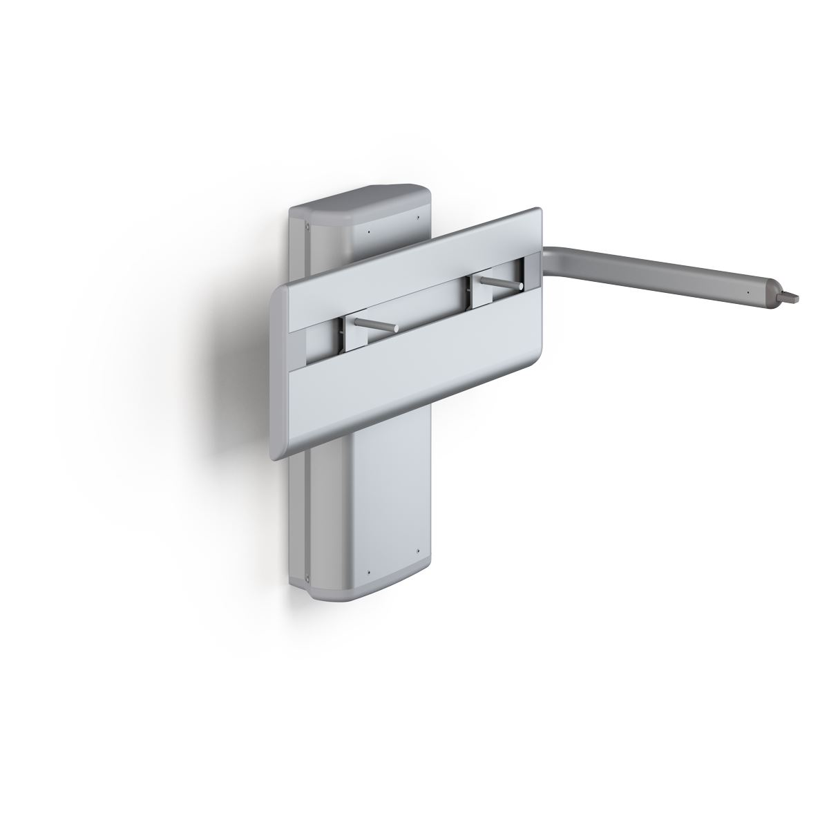 PLUS wash basin bracket with lever control, manually height adjustable with gas cylinder