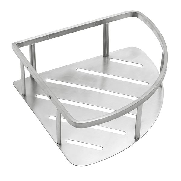 Corner shelf, stainless steel