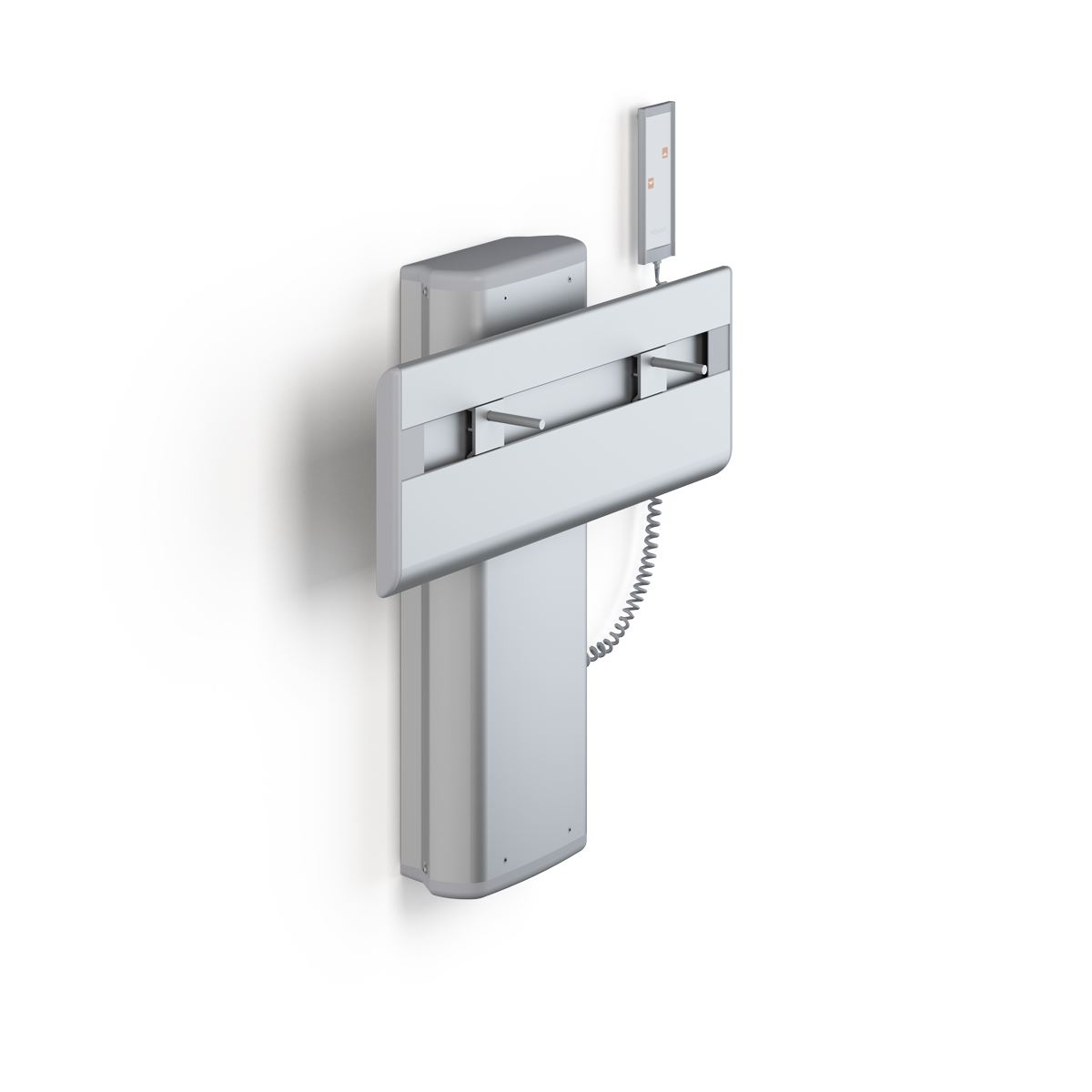 PLUS wash basin bracket with wired hand control, electrically height adjustable